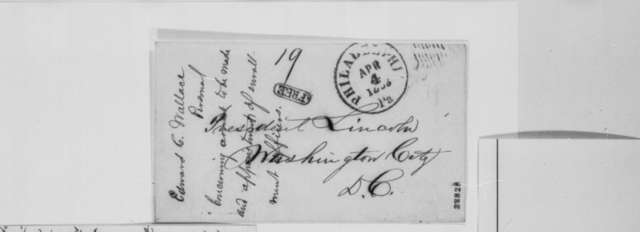 Edward Wallace to Abraham Lincoln, Saturday, April 04, 1863  (Threat of draft resistance)