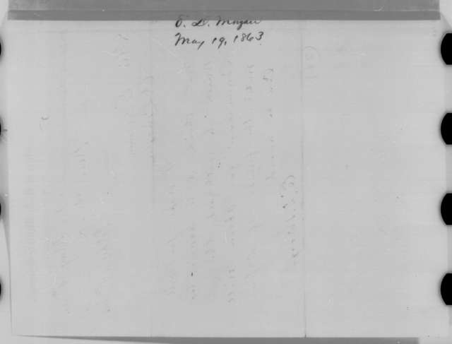 Edwin D. Morgan to Abraham Lincoln, Tuesday, May 19, 1863  (Telegram concerning appointment of Abram Hyatt)