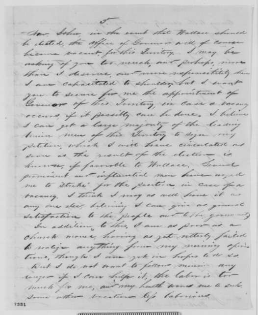 F. M. Reed to John Conness, Wednesday, October 28, 1863  (Politics in Idaho Territory)