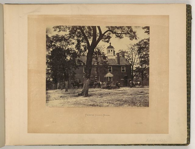 Fairfax court-house / negative by T.H. O'Sullivan ; positive by A Gardner.