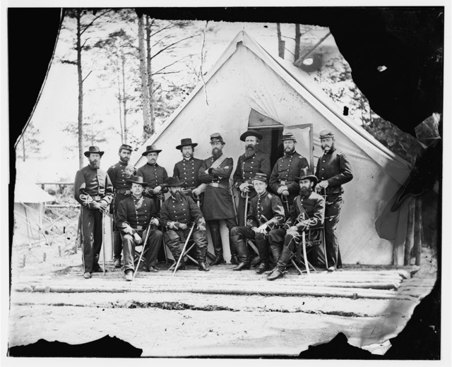 Falmouth, Virginia. General George Stoneman and staff