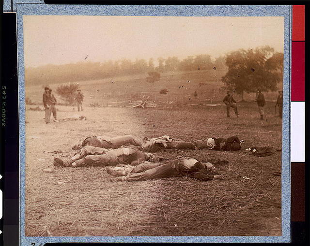 Federal dead on the field of battle of first day, Gettysburg, Pennsylvania