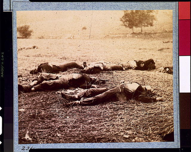 [Federal dead on the field of battle of first day, Gettysburg, Pennsylvania]