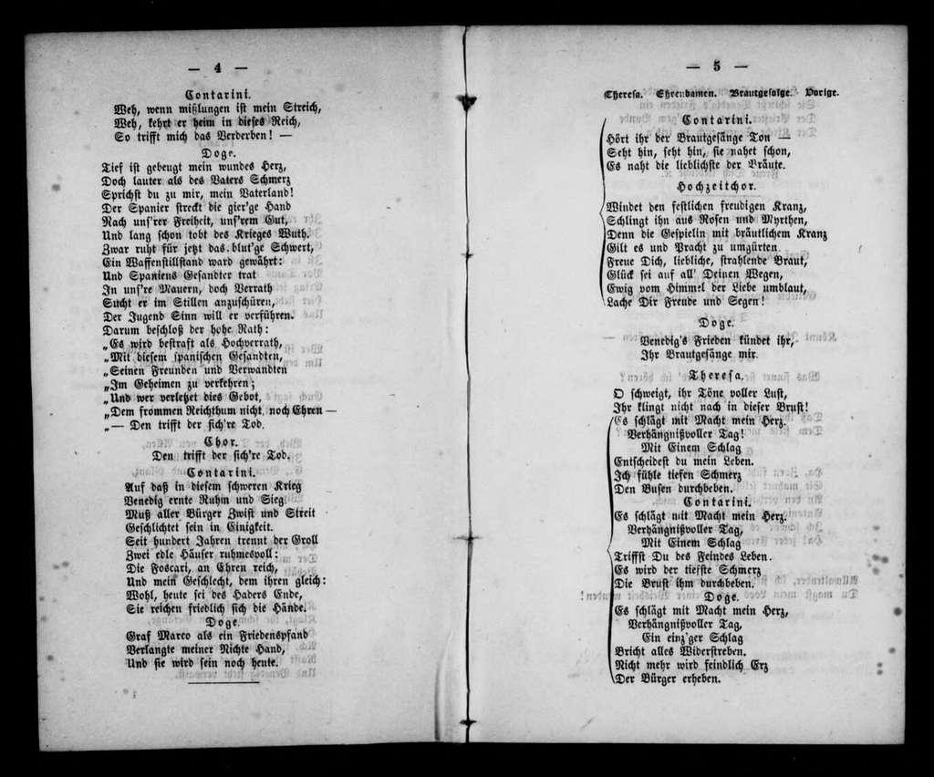 Foscari. Libretto. German