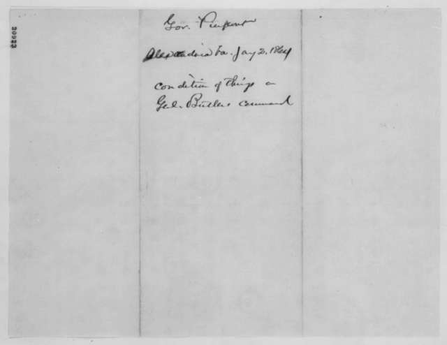Francis H. Peirpoint to Abraham Lincoln, January 2, 1863  (Meeting with Lincoln)