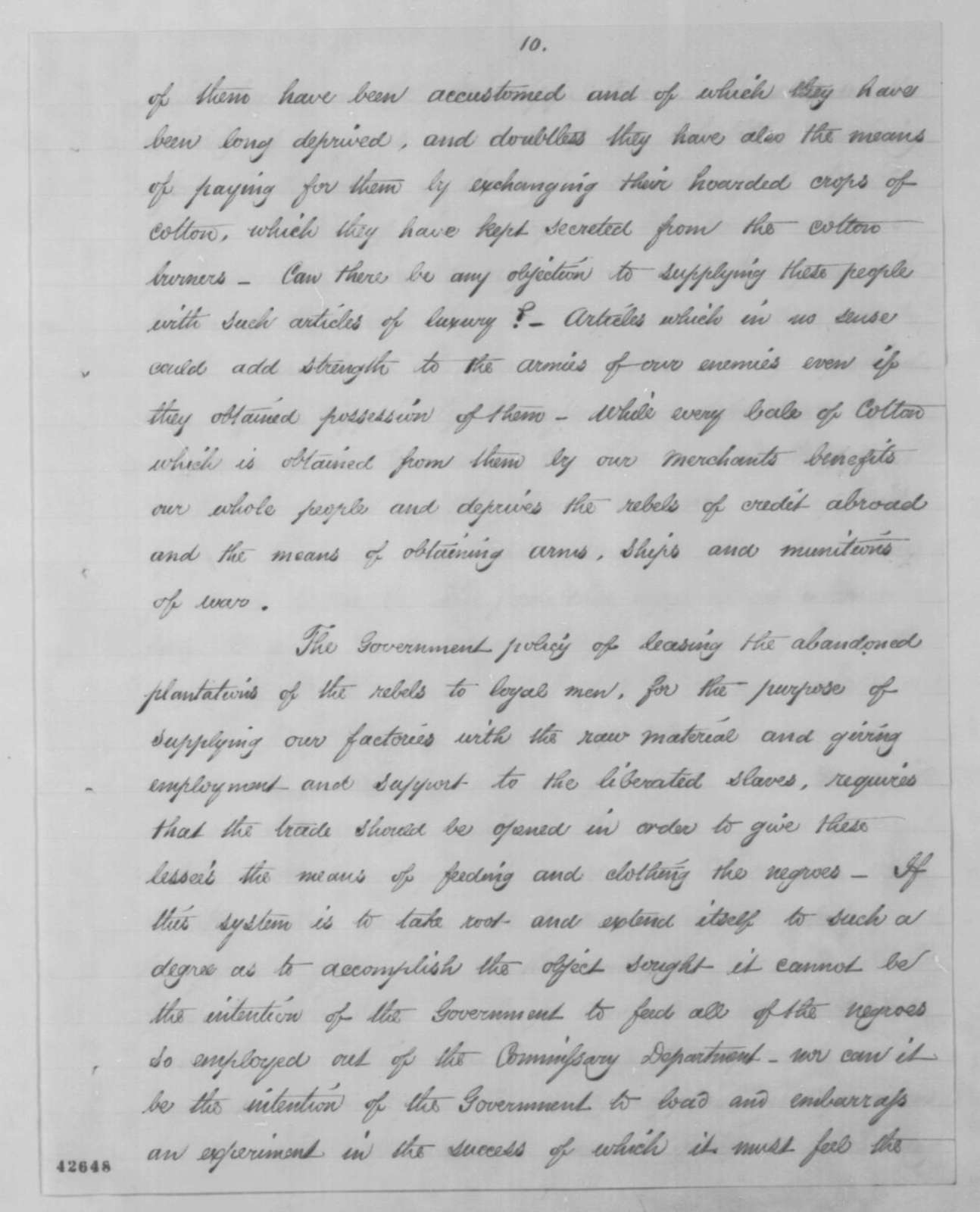 Francis P. Blair Jr. to Abraham Lincoln, Wednesday, September 09, 1863  (Urges the opening of Mississippi River to commerce)
