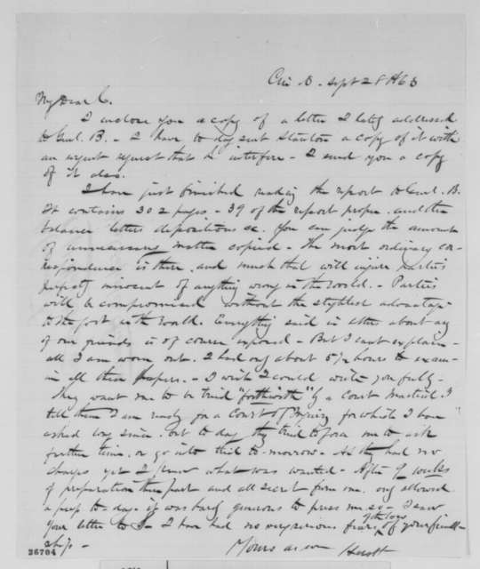 Francis W. Hurtt to Jay Cooke, Monday, September 28, 1863  (Hurtt's case)
