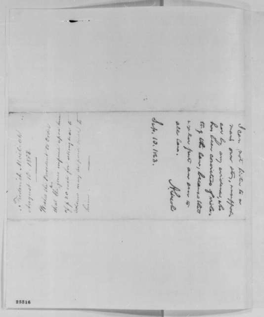 Frederick Moelich to Abraham Lincoln, Monday, August 10, 1863  (Complains about fines for selling liquor to soldiers; endorsed by Lincoln, September 10, 1863)