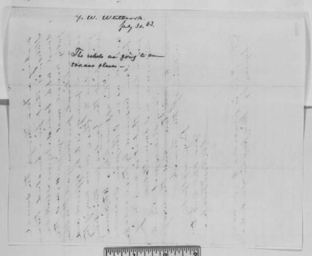 G. W. Westbrook to Abraham Lincoln, Thursday, July 30, 1863  (Confederate emancipation)