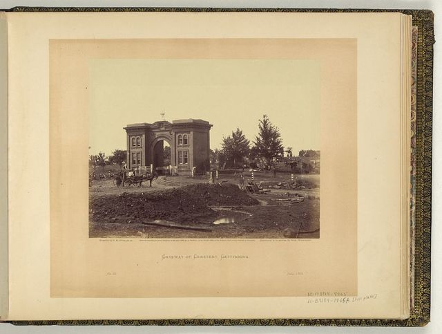 Gateway of cemetery, Gettysburg / negative by T.H. O'Sullivan; positive by A Gardner.
