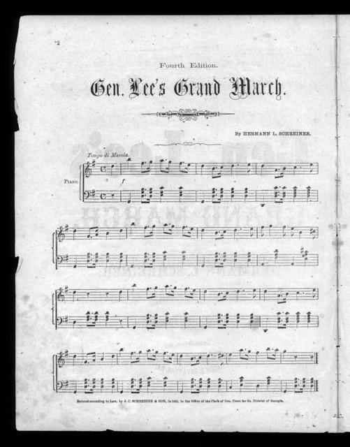 Gen. Lee's grand march