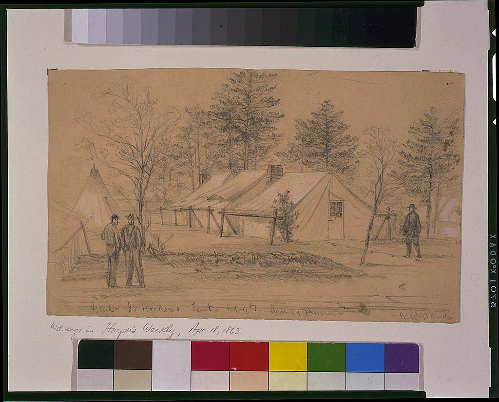 Genl. J. Hooker's. Tent Hdqts. Army of Potomac