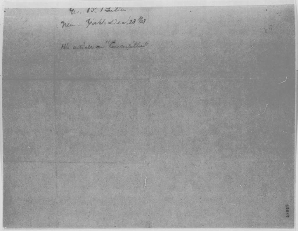 George B. Butler to Mary Todd Lincoln, Wednesday, December 23, 1863  (Sends articles on conscription)