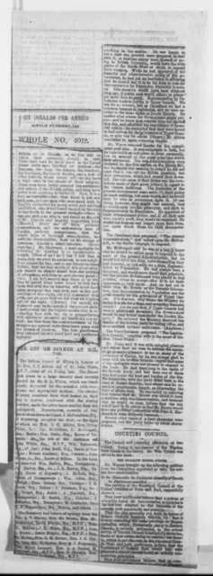 George Brown, Tuesday, February 10, 1863  (Newspaper clipping)