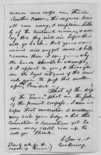 George Denny to William H. Randall, Friday, December 11, 1863  (Conditions in Kentucky)