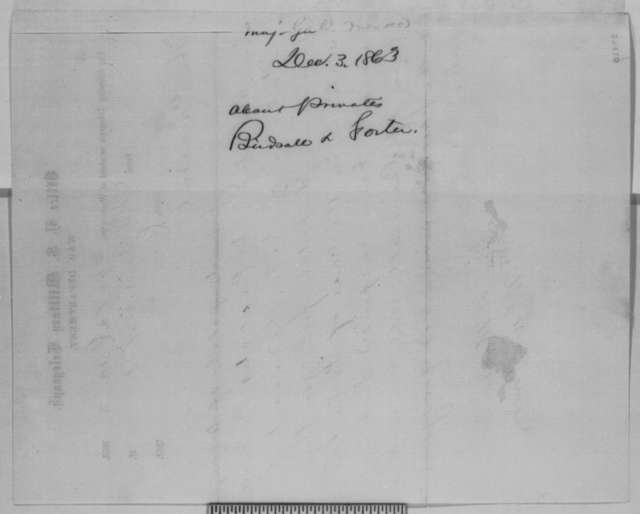 George G. Meade to Abraham Lincoln, Thursday, December 03, 1863  (Telegram concerning military executions)