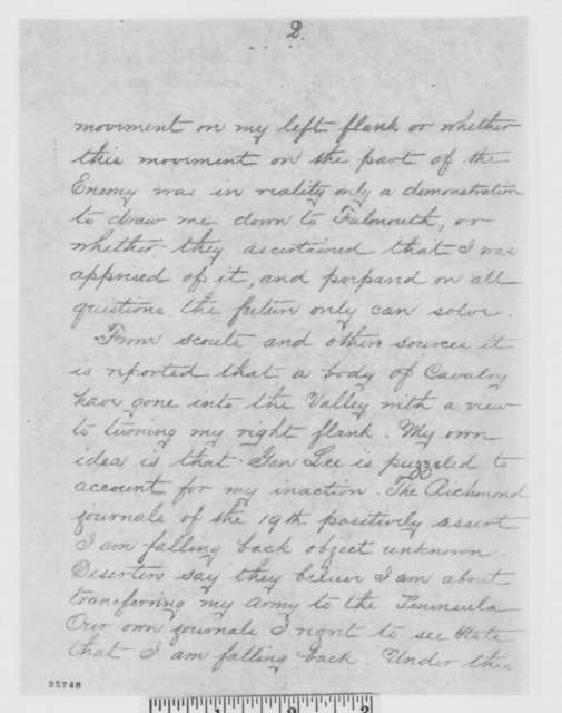 George G. Meade to Henry W. Halleck, Friday, August 21, 1863  (Telegram reporting movements of the enemy)