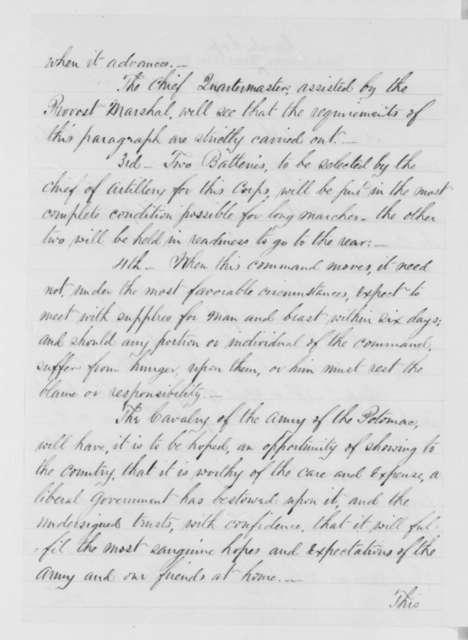 George Stoneman, Sunday, April 19, 1863  (Circular)