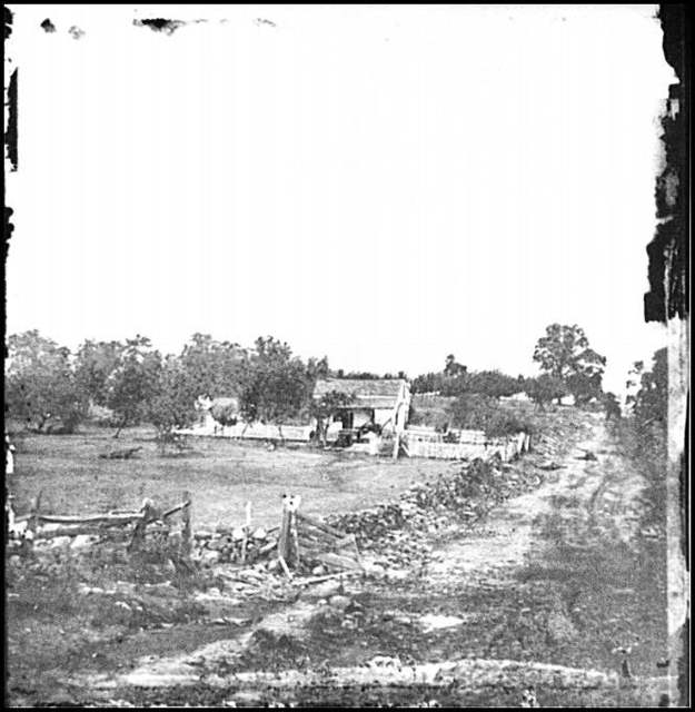[Gettysburg, Pa. Headquarters of Gen. George G. Meade on Cemetery Ridge]