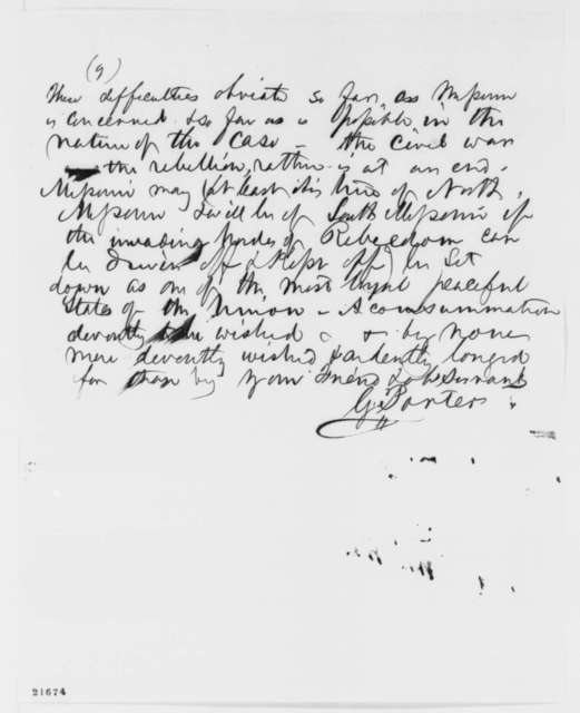 Gilchrist Porter to John B. Henderson, Wednesday, February 11, 1863  (Slavery and political affairs in Missouri)