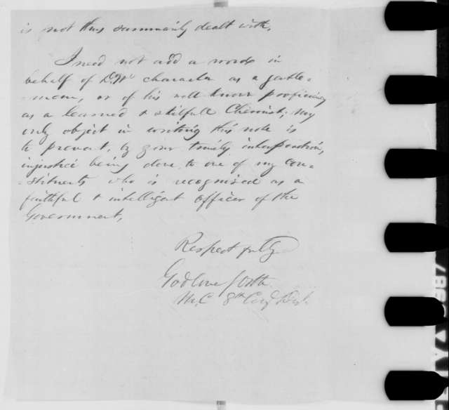 Godlove S. Orth to Abraham Lincoln, Friday, October 16, 1863  (Charles M. Wetherill)