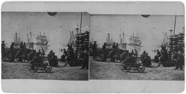 Gun-boats at Baton Rouge, La., March 1863
