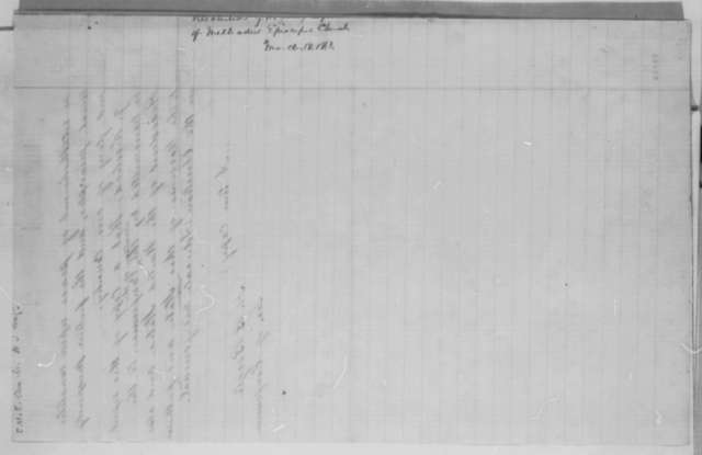 H. B. Beegle to Abraham Lincoln, Wednesday, March 18, 1863  (Sends resolutions from New Jersey Annual Conference of Methodist Episcopal Church)
