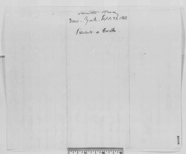 Hamilton Bruce to Abraham Lincoln, Monday, September 21, 1863  (Sends book)