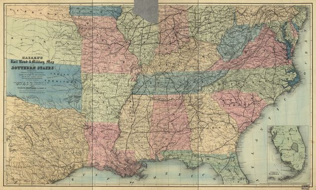 Hazard's rail road & military map of the southern states.
