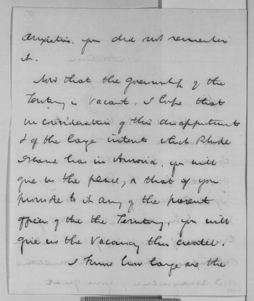 Henry B. Anthony to Abraham Lincoln, Monday, August 24, 1863  (Appointment)