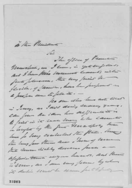 Henry C. Carey to Abraham Lincoln, Saturday, May 02, 1863  (Recommendation for provost marshal)