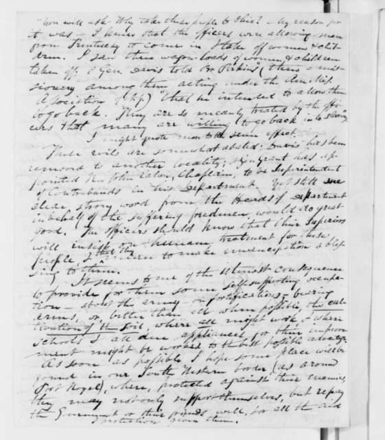 Henry Cowles to John Pierpont, Friday, March 06, 1863  (Welfare of freedmen)