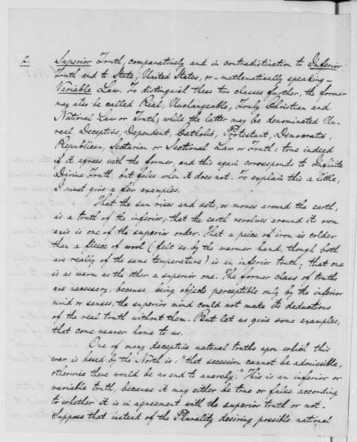 Henry N. Thielsen to Abraham Lincoln, Sunday, January 18, 1863  (Plan for reuniting North and South)