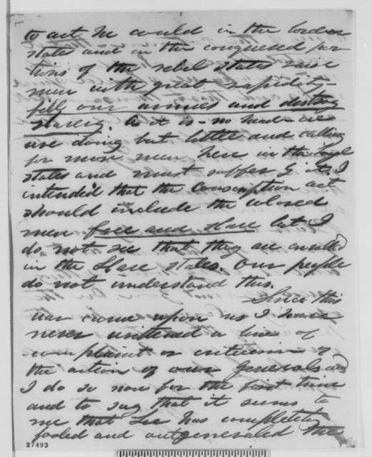 Henry Wilson to Abraham Lincoln, Sunday, October 25, 1863  (New York politics)