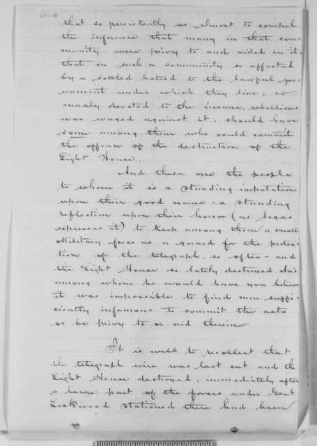 Henry Z. Hayner to Abraham Lincoln, Thursday, September 10, 1863  (Report on affairs at Northampton, Virginia, endorsed by Robert C. Schenck, September 17, 1863)