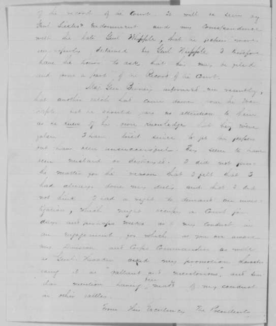 Hiram Berdan to Edwin M. Stanton, Wednesday, August 19, 1863  (Charges made against him by his officers)