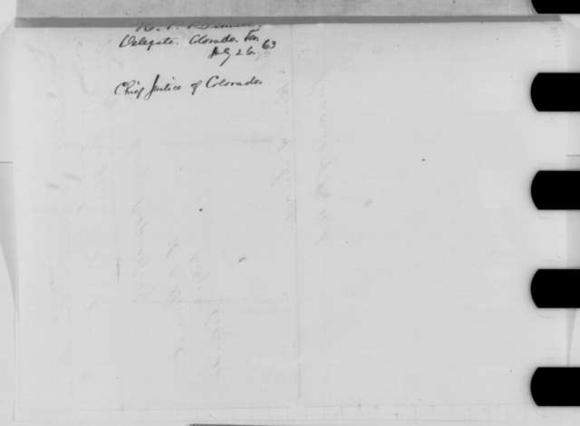 Hiram P. Bennet to Abraham Lincoln, Sunday, July 26, 1863  (Judicial appointment for Colorado Territory)