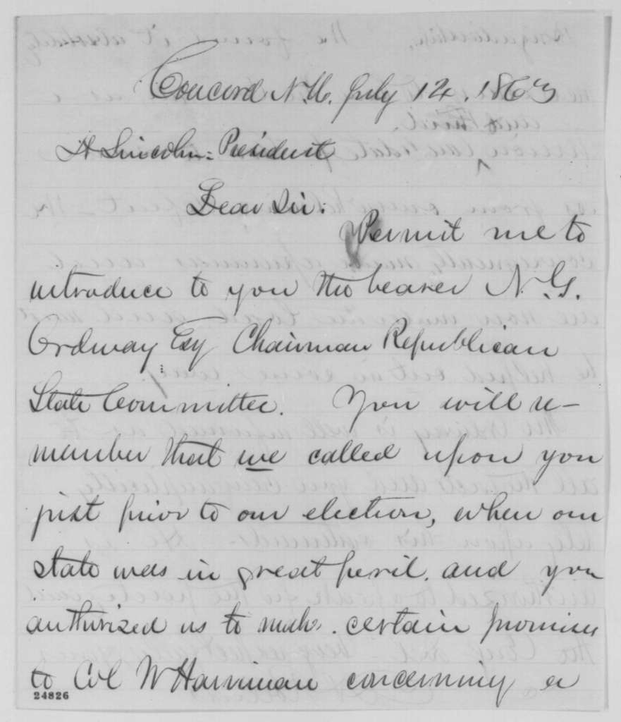 Hiram Rollins to Abraham Lincoln, Tuesday, July 14, 1863  (Introduction)