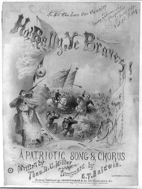 Ho! Rally ye braves! A patriotic song and chorus