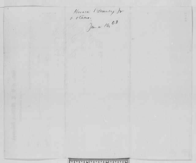 Horace Binney Jr., et al. to Abraham Lincoln, Tuesday, June 16, 1863  (Telegram requesting that General Cadwalader be sent to Philadelphia)