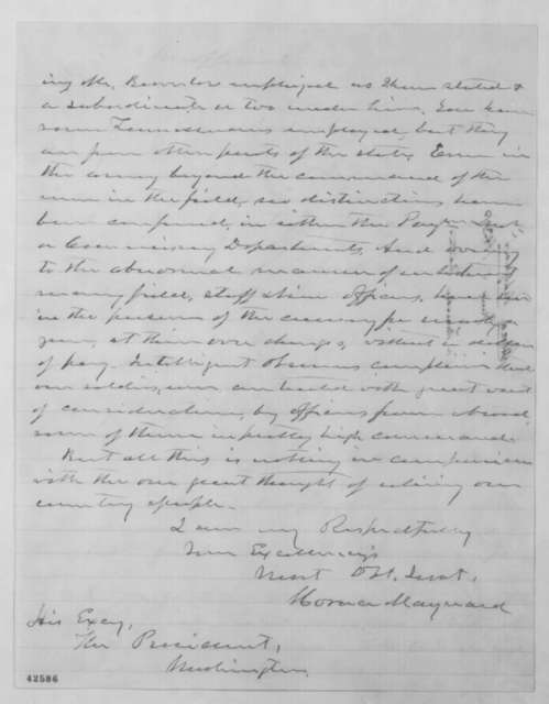 Horace Maynard to Abraham Lincoln, Friday, June 05, 1863  (Affairs in Tennessee)