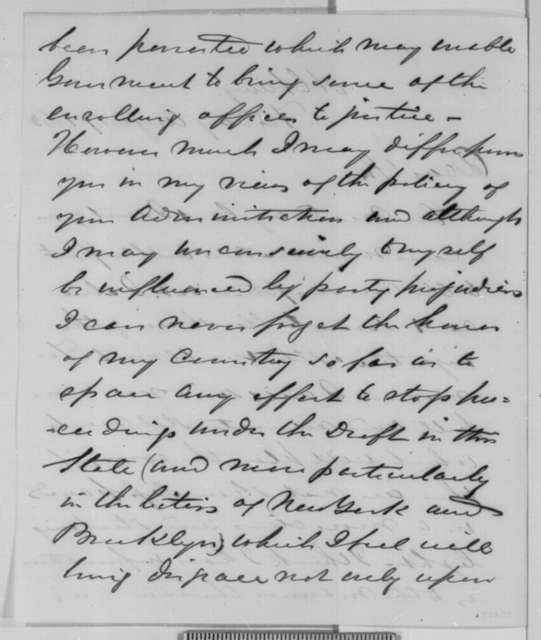 Horatio Seymour to Abraham Lincoln, Friday, August 07, 1863  (Conscription in New York)