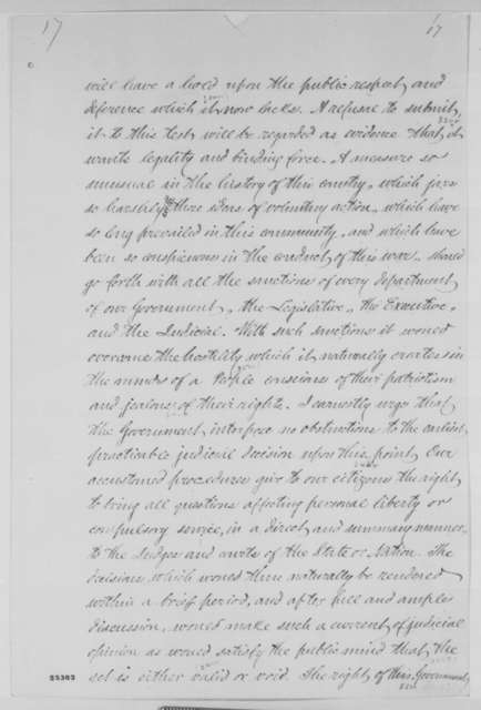 Horatio Seymour to Abraham Lincoln, Monday, August 03, 1863  (Conscription in New York)