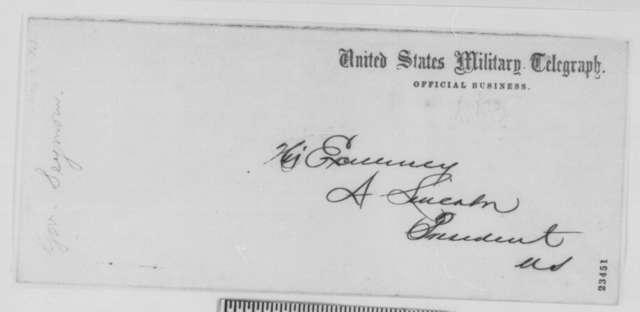 Horatio Seymour to Abraham Lincoln, Wednesday, May 13, 1863  (Telegram concerning Dr. John Swinburne)