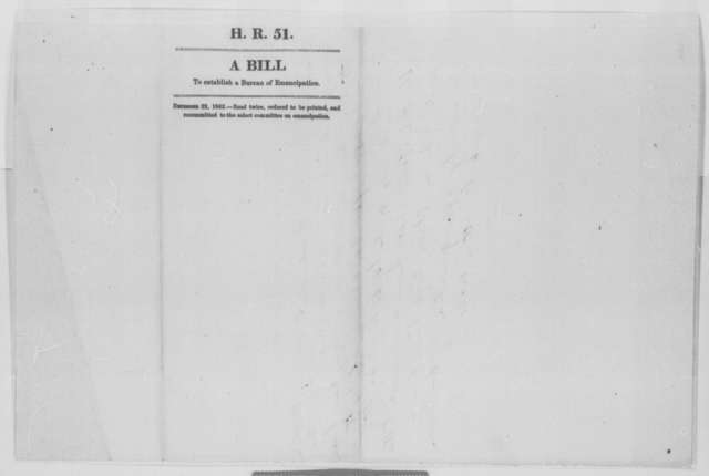 House of Representatives, Tuesday, December 22, 1863  (Printed bill; with manuscript revisions)