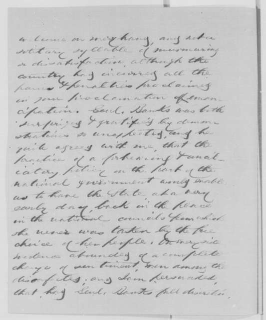 Hugh Kennedy to Abraham Lincoln, Wednesday, May 20, 1863  (Affairs in Louisiana and General Banks)