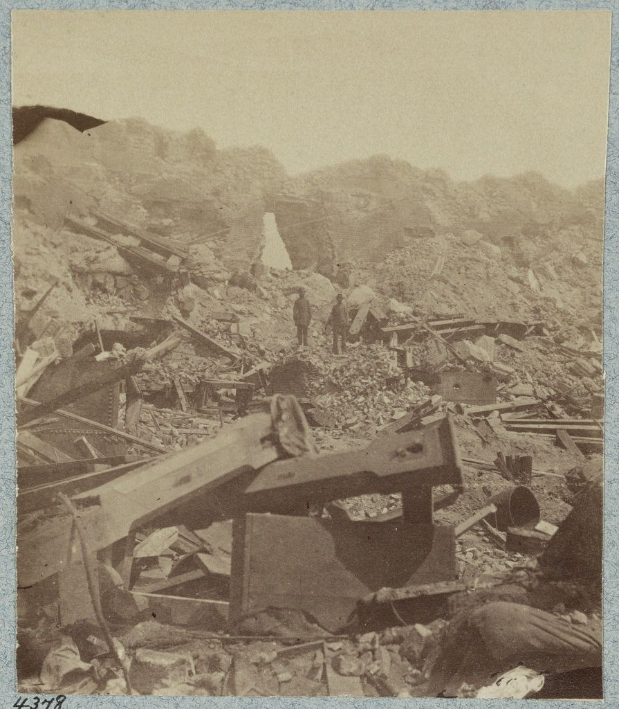 Interior Views of Fort Sumter, Charleston, S.C. taken by a Confederate photographer in 1864 [i.e. 1863]