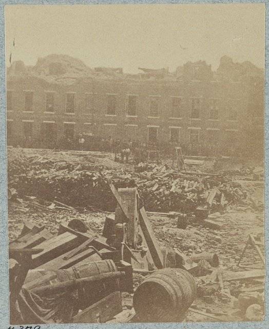 Interior views of Fort Sumter, S.C. taken by a Confederate photographer in 1864 [i.e. 1863]