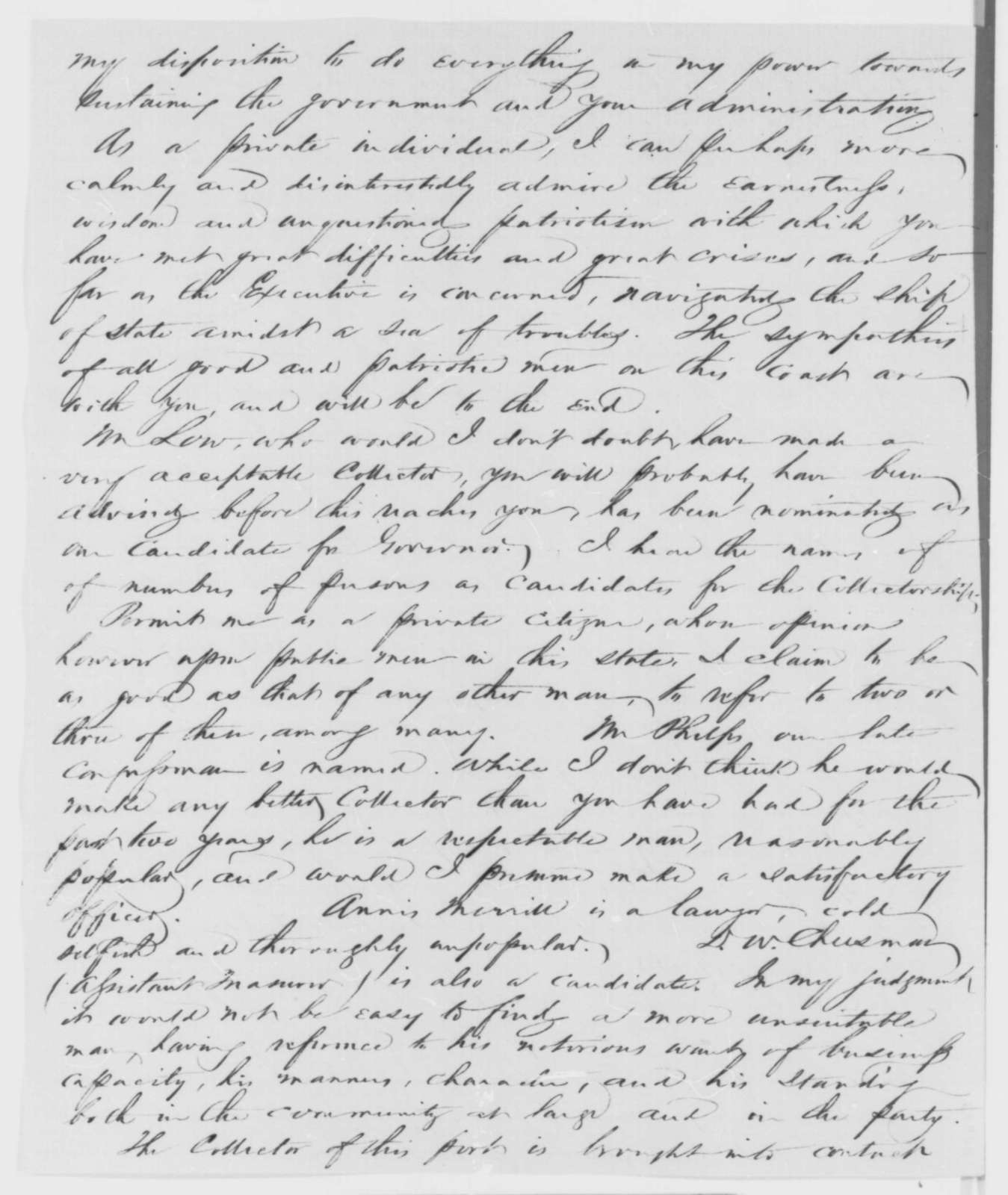 Ira P. Rankin to Abraham Lincoln, Tuesday, June 30, 1863  (Removal from office)