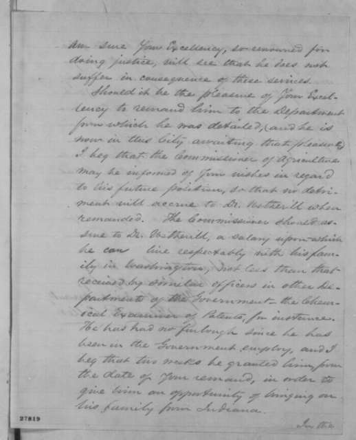 Isaac R. Diller to Abraham Lincoln, Wednesday, November 04, 1863  (Gunpowder tests and Charles M. Wetherill)